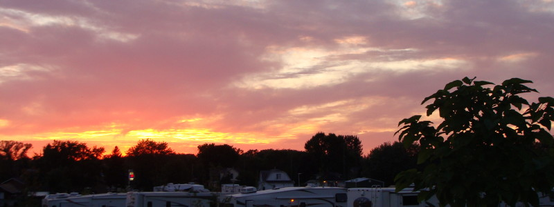 A beautiful Wisconsin sunset.